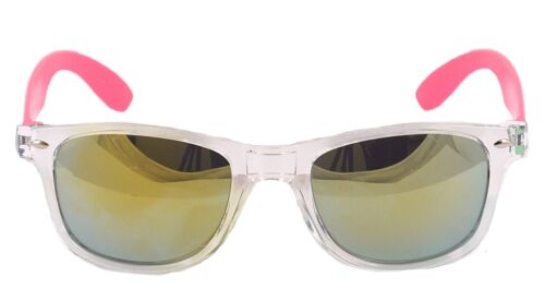 Mens Ladies Blue  Mirror lens neon Arms Sunglasses neon Shades