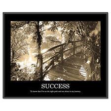 "Advantus ""Success"" Framed Sepia Tone Motivational Print, 30 x 24"