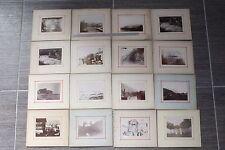 (162A) Lot 3 : 32 photos anciennes mer et montagne à situer, collées sur carton