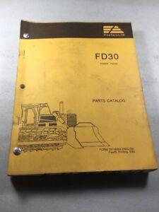 Details about Fiat Allis FD30 Crawler Tractor Dozer Parts Catalog