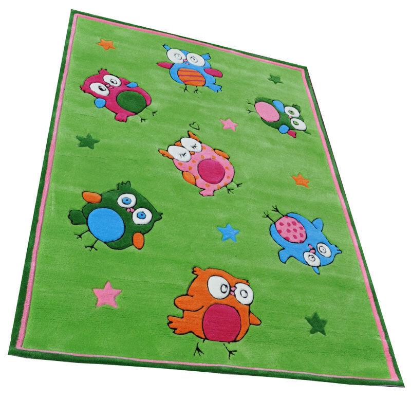 Enfants tapis HANDTUFT Hibou 180x130 cm 3718-01
