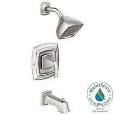 Moen Hensley Single-Handle 1-Spray Tub Shower Faucet Spot Resist Brushed Nickel