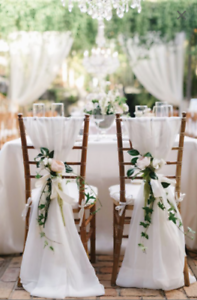 Bulk 50 Chiffon Chair Sashes Wedding Decor Chiavari Sash Covers Ebay