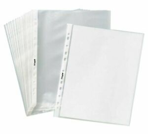 100 Sleeves Clear Plastic Sheet Page Protectors Document Non-Glare Ring Binder
