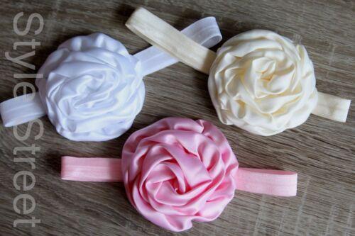 3 FARBEN ZUR Wahl Baby Luxus Stirnband Blume Haarband Blüte Haarband