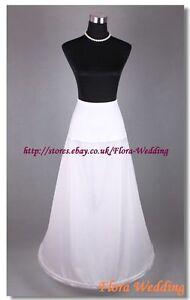 1-Hoop-Lycra-Waist-Wedding-Prom-Petticoat-Single-One-Hoop-Crinoline-Underskirt