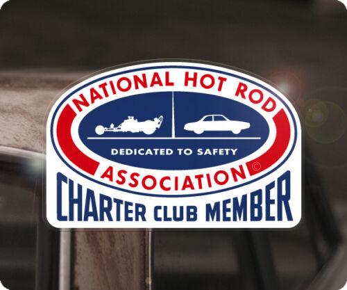 NHRA Charter Club Member sticker decal V8 drag racing national hot rod gasser
