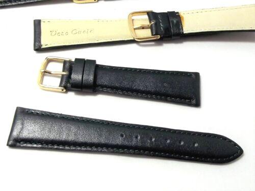 cinturino verde vero cuoio imbottito ansa 20 mm fibbia gold forniture orologi ok