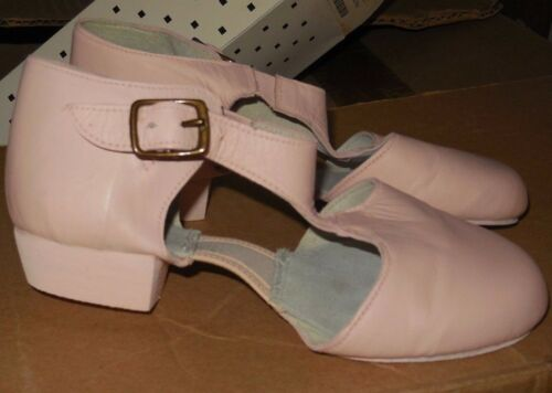"Pink Buckle grecian sandal Lyrical shoe 1//2/"" heel ch//ladies neoprene Leather"