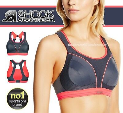 The Best 30b Shock Absorber Run Sports Bra Grey Coral S5044 Activewear Women's Clothing