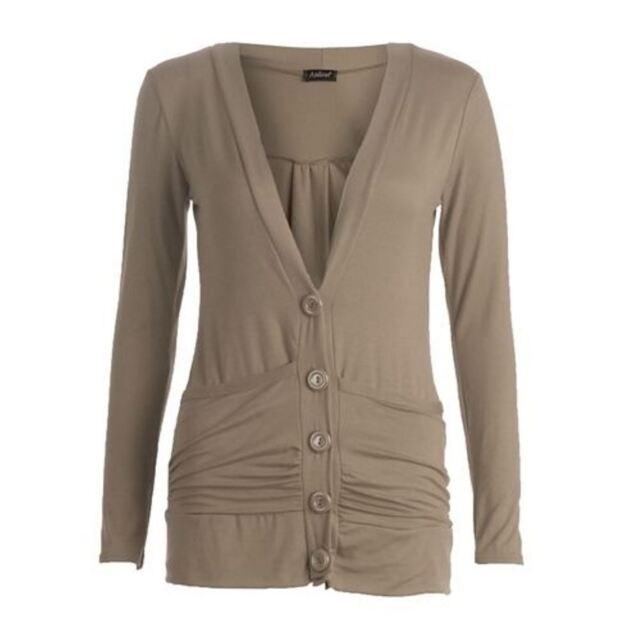 3942c8811c Ladies Womens Long Sleeve Pocket Button BOYFRIEND Cardigan Jumper ...