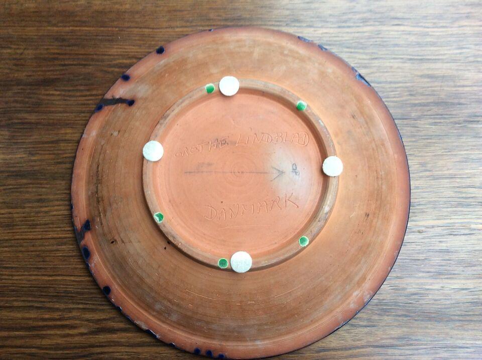 Keramik, Grethe Lindblad - Stentøjsfad