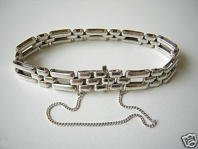 Fine Bracelets Spirited Antikes Armband Aus 835 Silber Mit Sicherheitskette 23,6 G/länge 18 Cm Relieving Heat And Sunstroke
