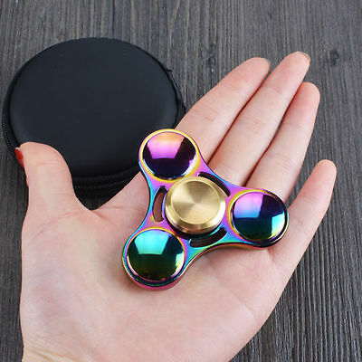 Titanium Alloy EDC Hand Fidget Spinner High Speed Focus Toy Gift-Rainbow Colors