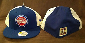 finest selection c8bbf ee1e5 Image is loading Detroit-Pistons-NEW-ERA-59FIFTY-Fitted-Hat-NBA-