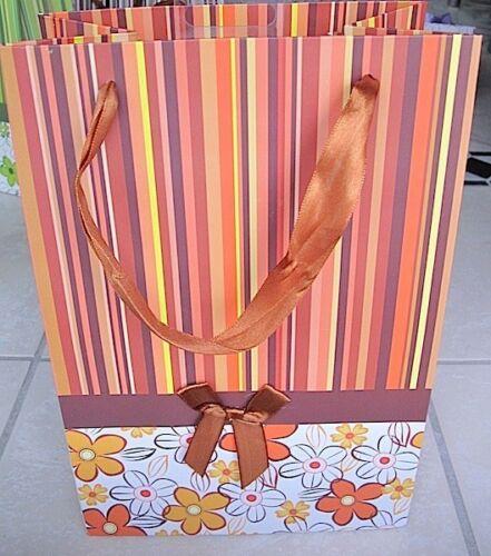Taunus Geschenktasche 190x122x278 Geschenktüte 99-0113 Stripes Luxus terrakotta