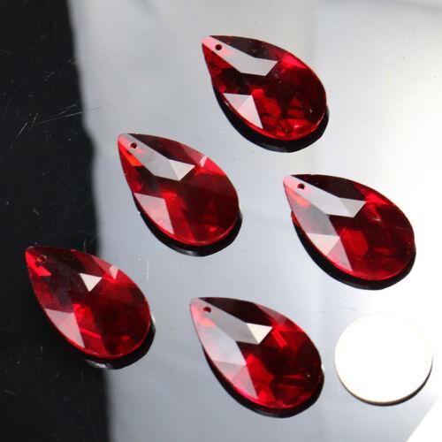 5Pcs Red CRYSTAL Prism Lamp Chandelier Part Pendant Window Decor SUNCATCHER DIY