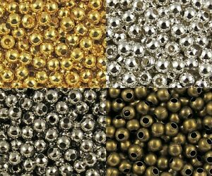 Wholesale-Lot-Silver-Metal-Round-Spacer-Beads-Jewelry-Craft-2mm-3mm-4mm-5mm-6mm