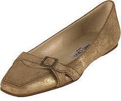 Jimmy Choo Coarse 38 Gold Suede Flats Size 38 Coarse 1/2  $495 5ecc77