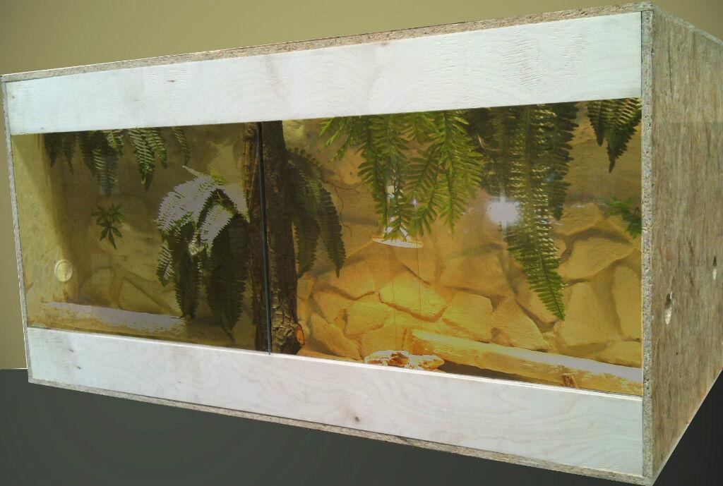 100er Terrarium Seitenbelüftung Multiplex-Blenden Birke 100x50x50