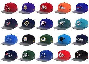 New Era NFL Official 9Fifty 950 Mens Snapback Flow Fect Fit Football Hat Cap