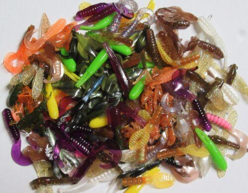 Beetles Frogs Crawfish 150 Plastic Fishing BREAM//CRAPPIE Lures: Grubs Worms