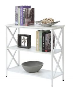 Details About Small Bookshelf Bookcase 3 Shelf Storage Open Display Shelving Organizer Wooden