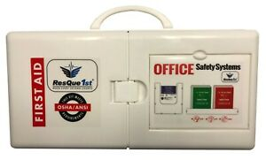 First Aid Kit QuickAid 100 Person 2 Shelf Cabinet Class A ANSI Z308.1 2015