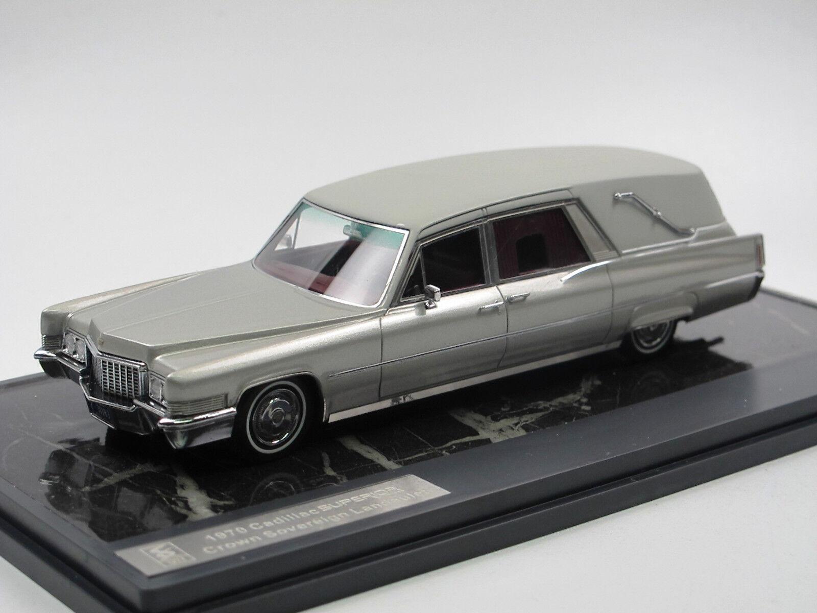 Matrix 1970 Cadillac Superior Crown Funeral bil Hearse bästattung swagen 1  43