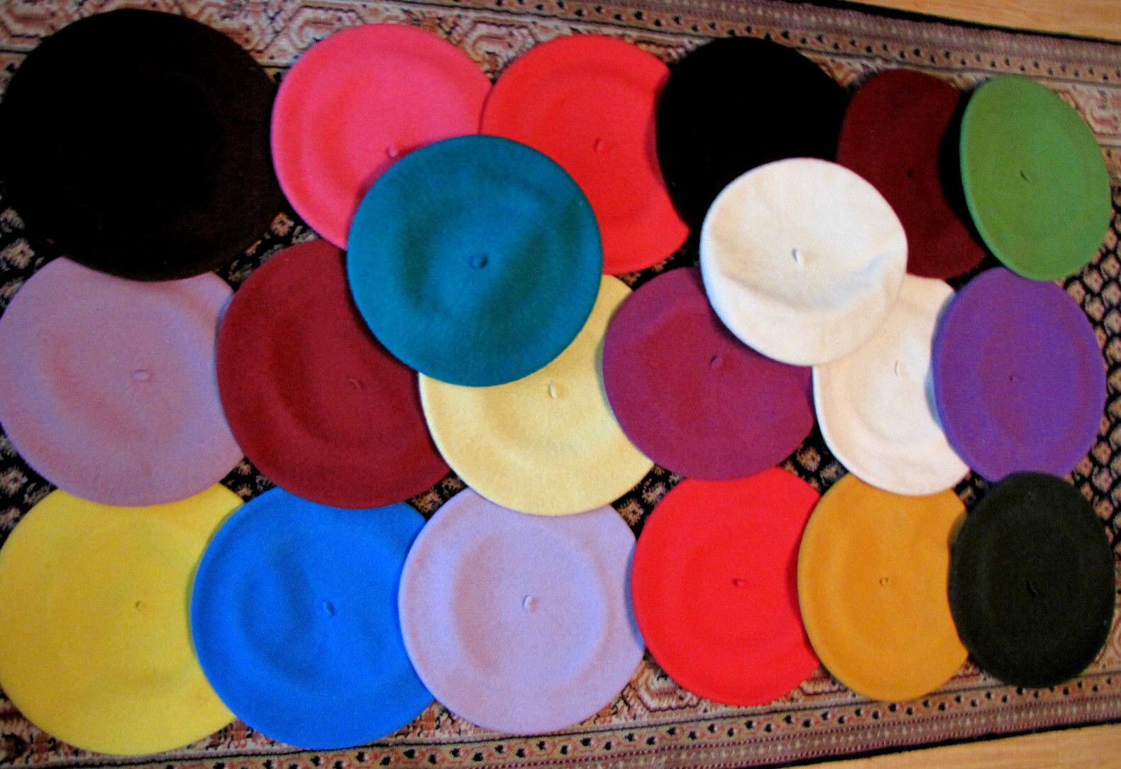 26 Baskenmützen Baskenmütze Mütze Damenbaske Damenmütze Wollmütze Tellermütze