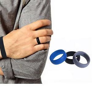3pcs Environmental Flexible Silicone Rubber Ring Finger Ring Men
