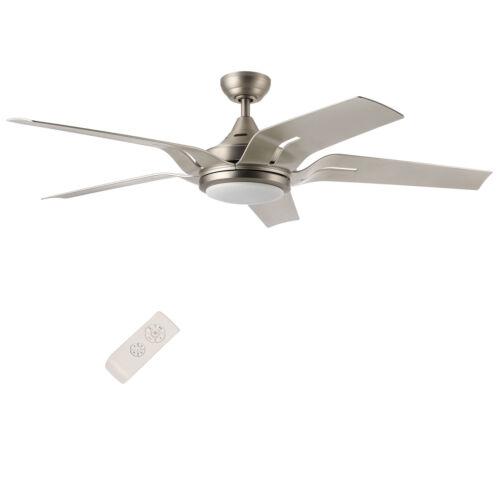 "52/"" 56/'/' Indoor Ceiling Fan LED Light Kit /& Remote Control 2 3 4 5 6 Blades"
