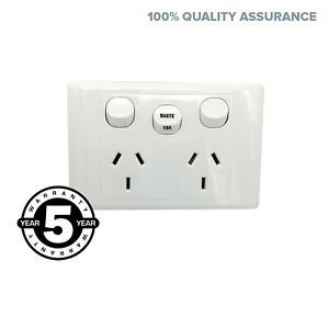 Double-Power-Point-GPO-Outlet-with-WASTE-15-AMP-Extra-Switch-2000-series