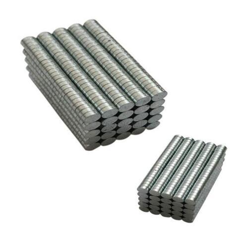 200 Neodym Magnete super stark Scheiben Würfel N50 doppelt vernickelt 3mm x 1mm