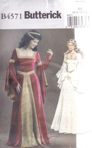 Butterick Sewing Pattern B4571 Ladies Costume Medieval Renaissance ...