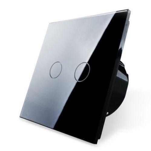 Livolo Interrupteur de lumière verre ecran tactile en alternance Prise Noir