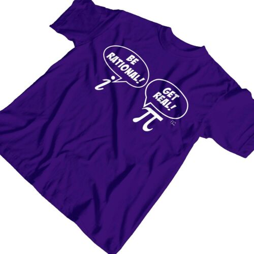 1Tee Kids Girls Be Rational Get Real Math/'s T-Shirt