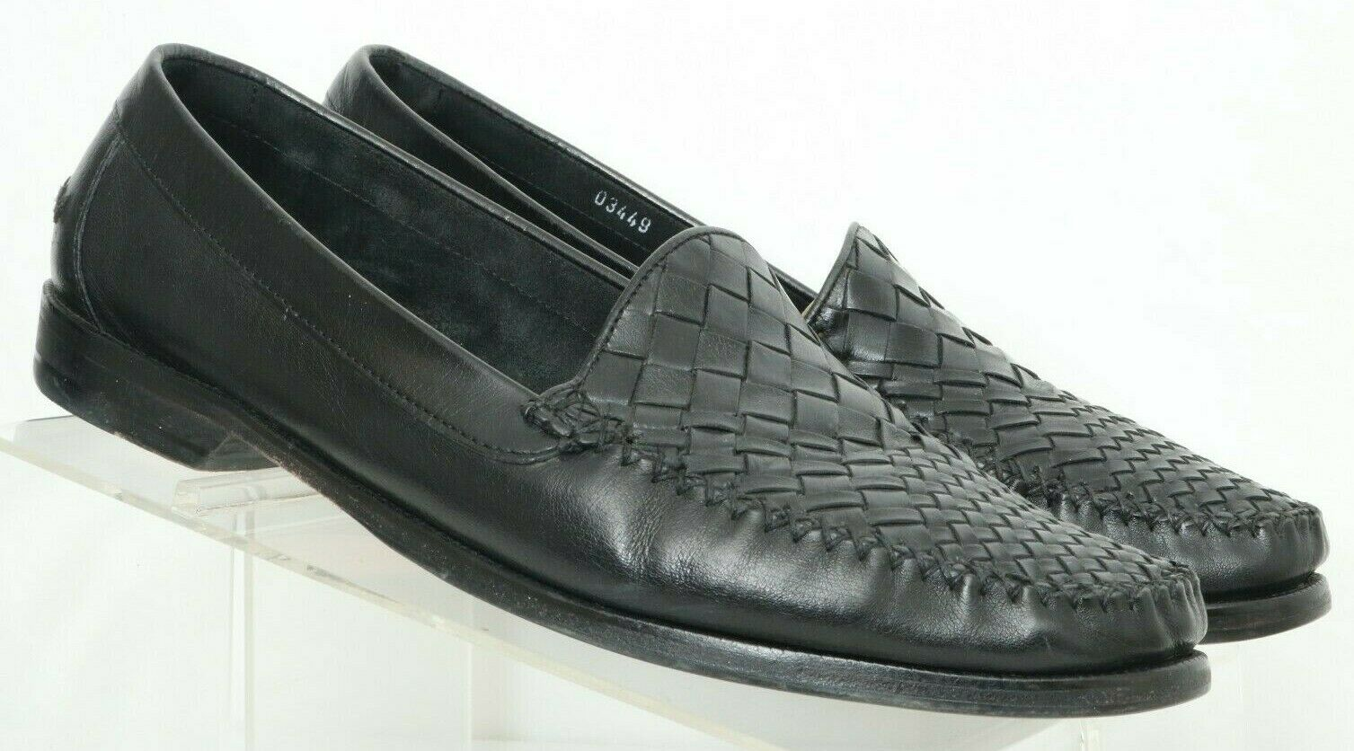 Cole Haan Country 03449 Black Woven Moc Toe Casual Loafers Men's US 9.5 D
