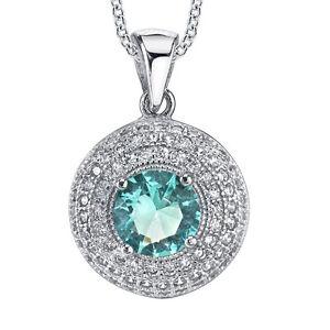 925-Sterling-Silver-Aquamarine-CZ-pendant-Necklace-set-with-Pave-cubic-zirconias