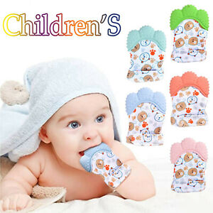 UK Baby Silicone Teething Mitten Glove Soft Candy Wrapper Teether BPA Free