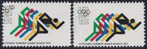 "1462 Multiple Error / EFO Color Shift & Misperf Olympics ""Running Downhill"" MNH"