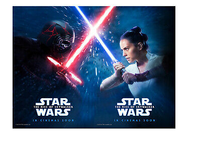 Star Wars The Rise Of Skywalker 27x40 Ds Light Box Poster Rey Vs Kylo Ren Ebay