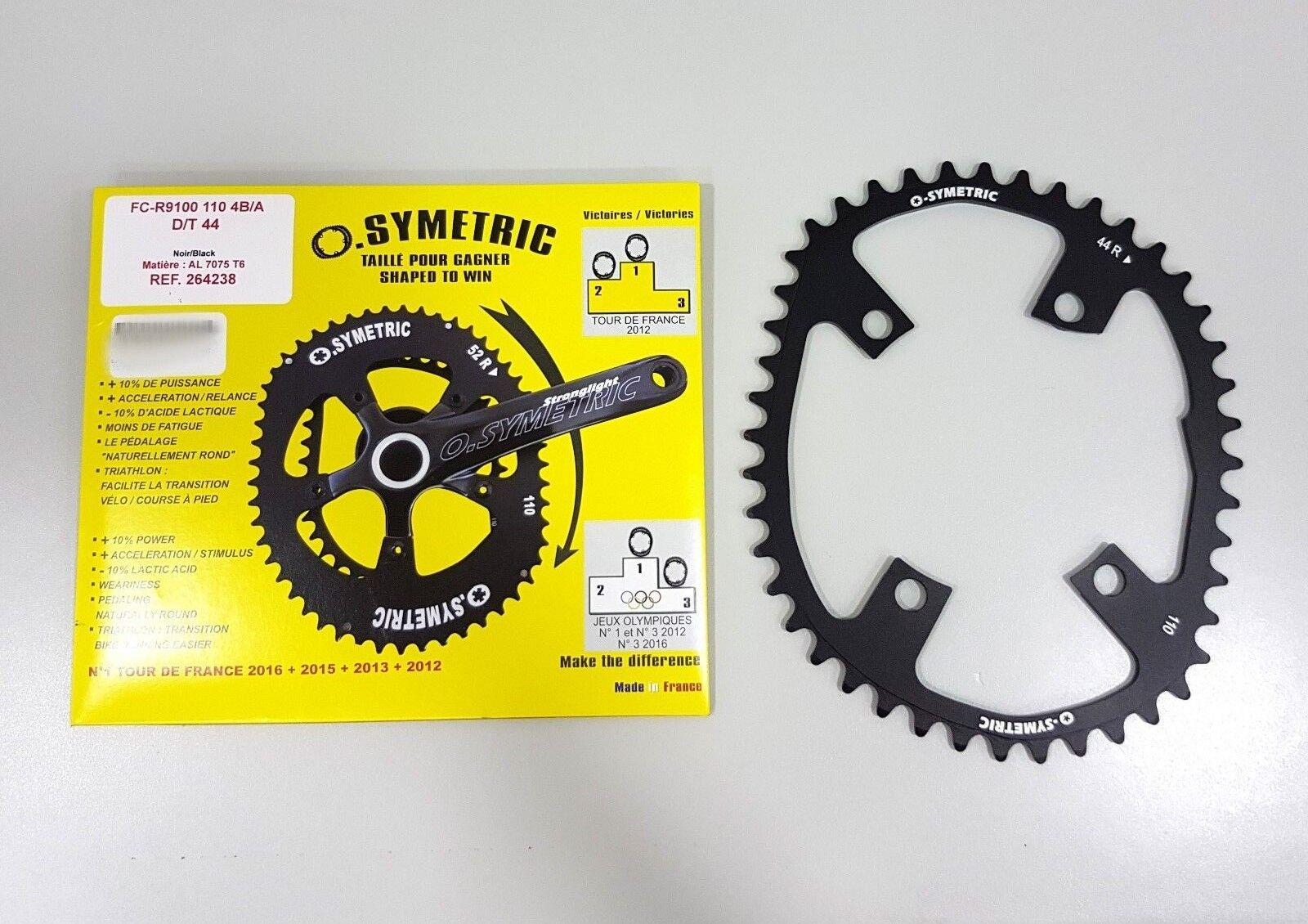 Osymetric PLATO BCD110mm X 4 44 T Negro  264238