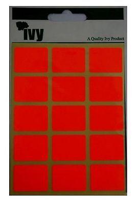 Ivy fluorescent jaune étiquette stickers collant auto adhésif 50x80mm rectangle