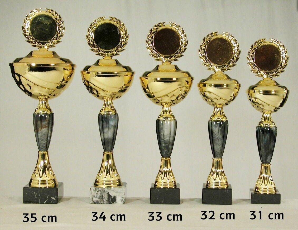 Pokal 1249 5er 5er 5er Serie oder Einzeln mit 50mm Emblem und Beschriftung gold-silberfa af5ede