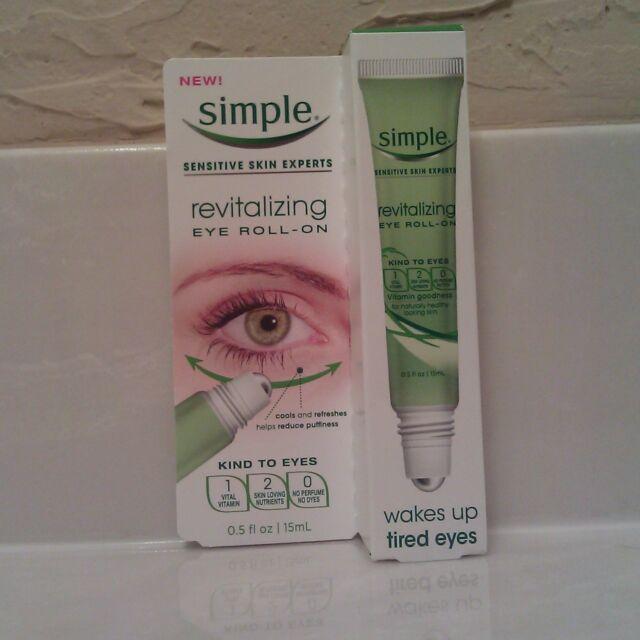 4 Pack Simple Revitalizing Eye Roll-On Wakes up Tired Eyes Sensitive 0.5 Oz Each Serious Skincare Super Mel C Antioxidant Rich Beauty Cream ~ 2 fl. oz.