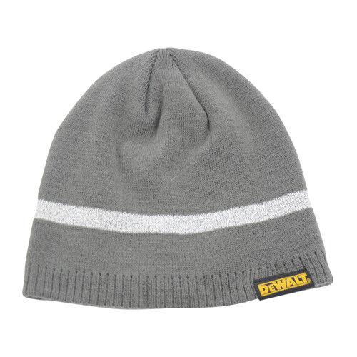 Grey DEWALT DWC95-004 Reflective Beanie Hat