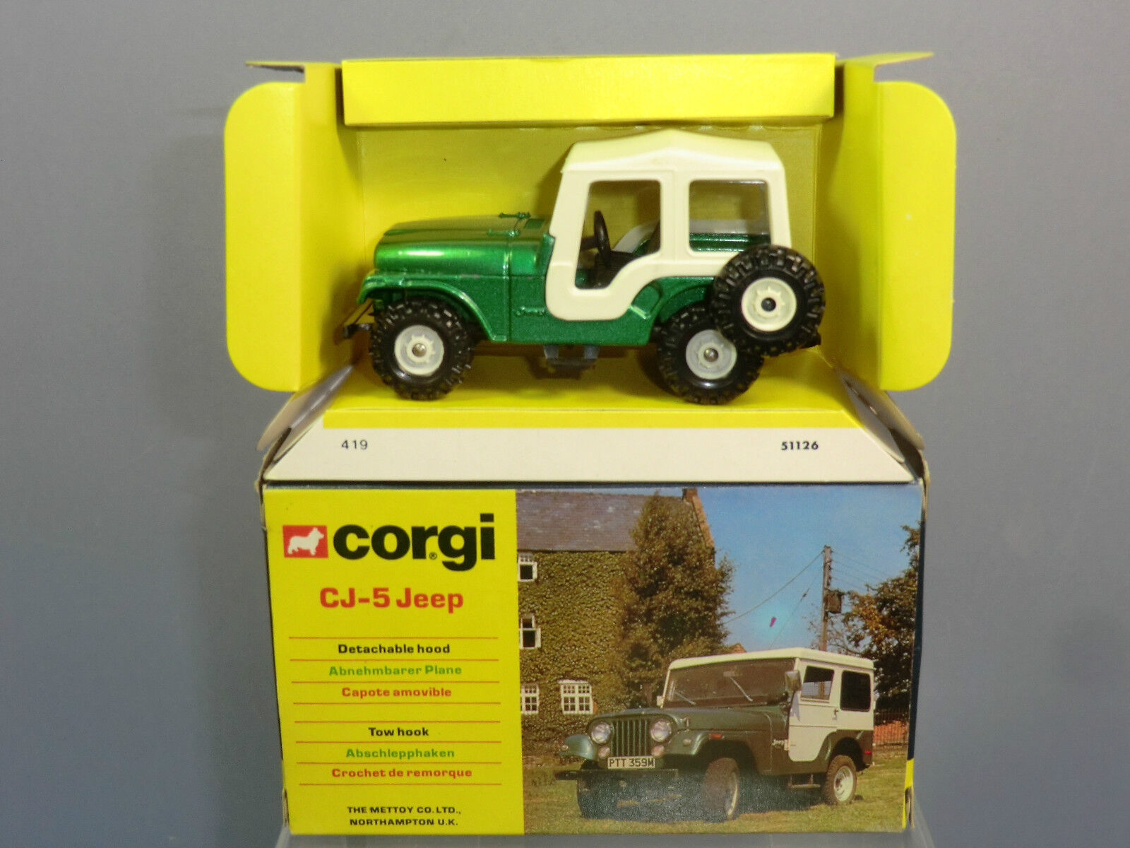 CORGI TOYS GIFT SET MODEL No.419  AMC  CJ-5  JEEP   MIB
