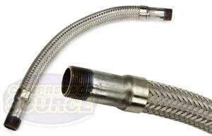 "3/4"" x 18""  Stainless Steel Compressed Air Line Metal Flex Hose Compressor Tube"
