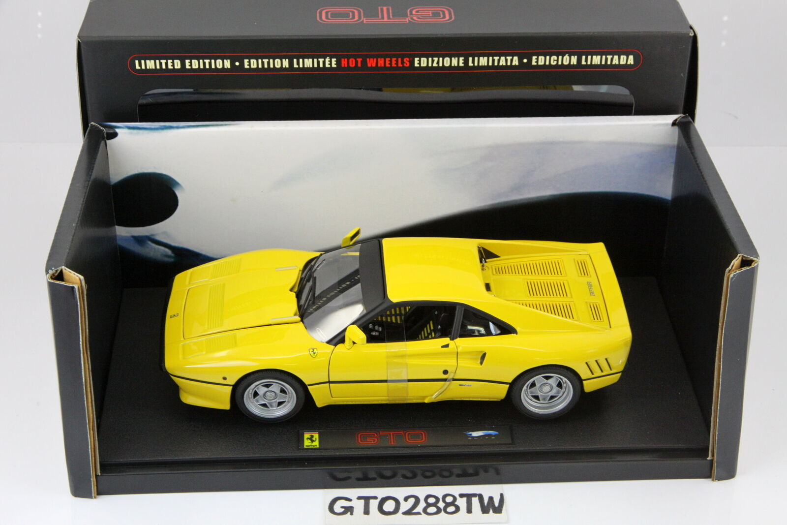 HotWheels ELITE 1 18 scale Ferrari 288 GTO 1984 - Yellow(Limited Ver) Hot Wheels